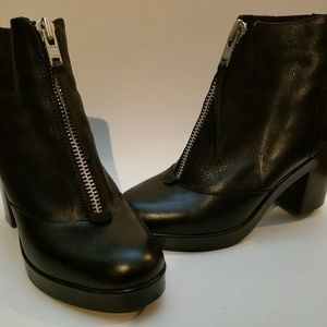 Topshop Leather Booties